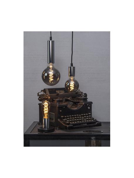 E27 Leuchtmittel, 4W, warmweiss, 1 Stück, Leuchtmittelschirm: Glas, Leuchtmittelfassung: Nickel, Schwarz, Ø 6 x H 14 cm