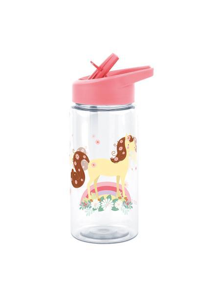 Botella Horse, Plástico, Caqui, blanco, Ø 8 x Al 16 cm