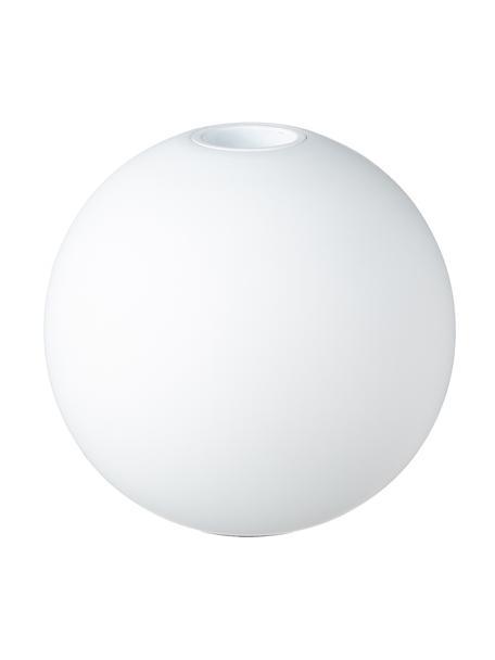 Portacandela fatto a mano Ball, Legno naturale, Bianco opaco, Ø 10 x A 9 cm