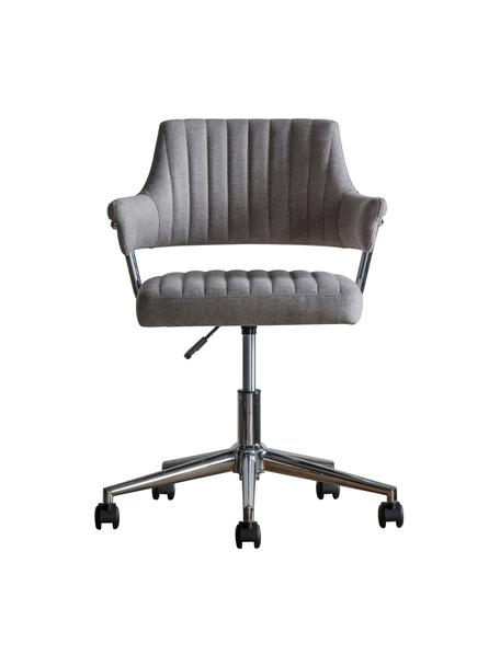 Krzesło biurowe McIntyre, obrotowe, Tapicerka: poliester, Nogi: metal galwanizowany, Szary, S 58 x G 54 cm