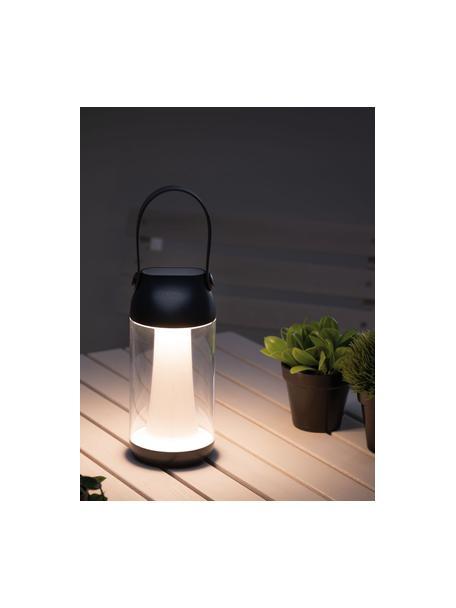 Mobiele dimbare LED tafellamp Capulino, Lampenkap: kunststof, Diffuser: kunststof, Transparant, antraciet, Ø 8 x H 18 cm