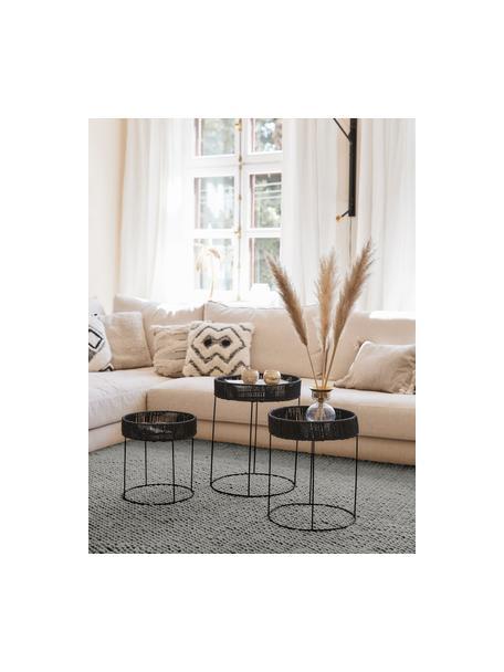 Ręcznie szyty dywan z wełny Lovisa, Srebrnoszary, S 80 x D 150 cm (Rozmiar XS)