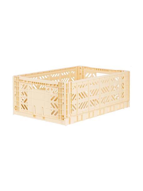 Klappbox Banana, stapelbar, gro, Recycelter Kunststoff, Creme, 60 x 22 cm