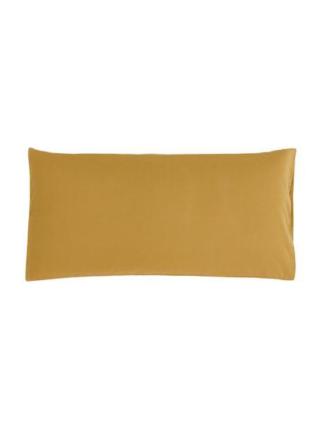 Poszewka na poduszkę z flaneli Biba, 2 szt., Żółty, S 40 x D 80 cm