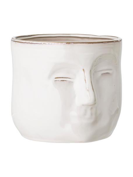 Portavaso in terracotta Huma, Terracotta, Bianco, beige, Larg. 18 x Alt. 16 cm