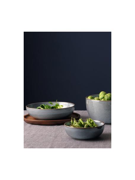 Plato hondo Saisons, 6uds., Gres, Azul, Ø 23 x Al 7 cm