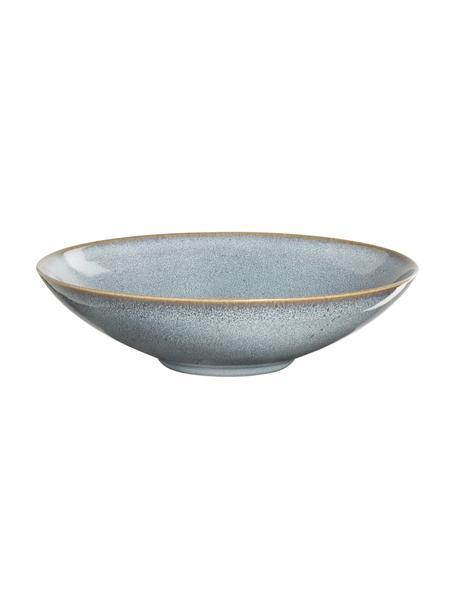 Talerz głęboki z kamionki Saisons, 6 szt., Kamionka, Niebieski, Ø 23 x W 7 cm