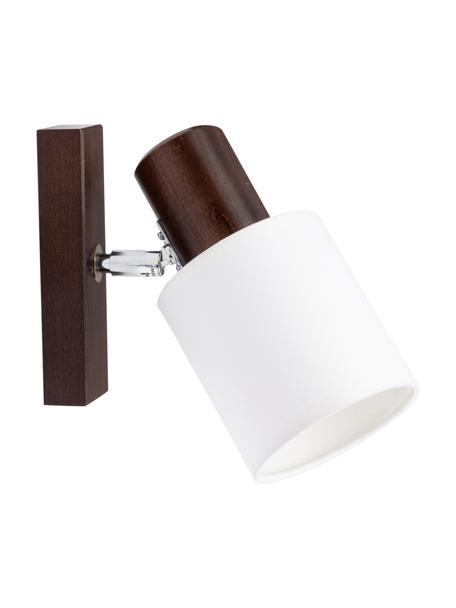Kinkiet/lampa sufitowa z drewna Treehouse, Ciemny brązowy, biały, S 10 x W 15 cm