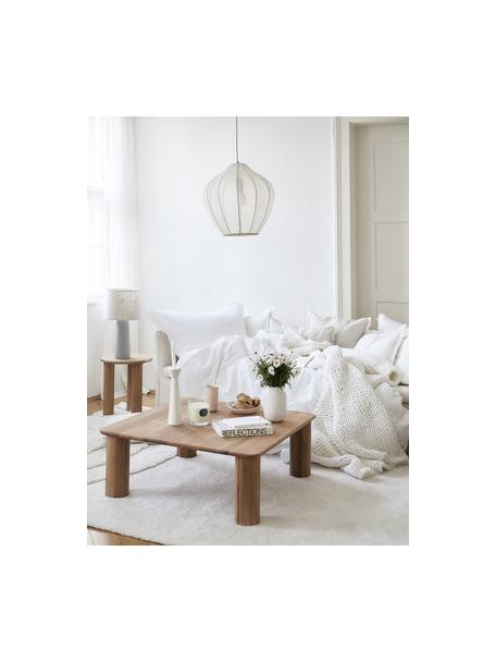 Lámpara de techo Beau, Anclaje: metal con pintura en polv, Pantalla: tela, Cable: cubierto en tela, Crema, Ø 40 x Al 40 cm