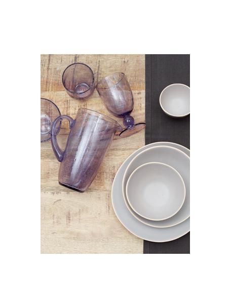 Brocca color lavanda con bolle d'aria Victor, 1.1 L, Vetro, Lavande chiaro, Alt. 21 cm