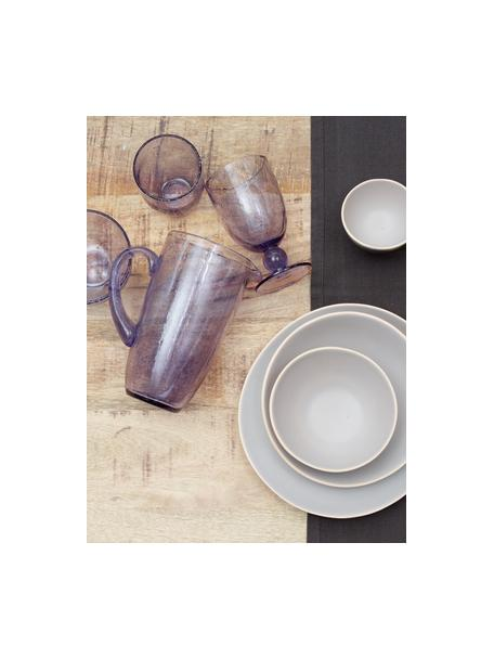 Karaf Victor in lavendelkleurig met luchtbellen, 1.1 L, Glas, Licht lavendelkleurig, H 21 cm