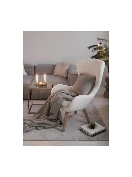 Poszewka na poduszkę Teddy Mille, Jasny szary, S 45 x D 45 cm