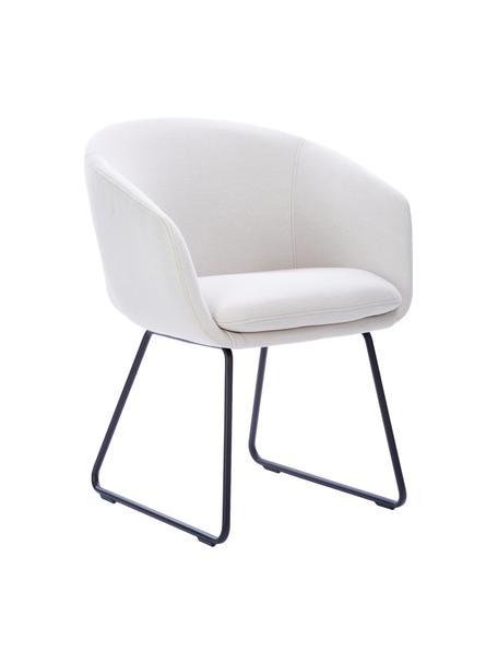 Fotel tapicerowany Juri, Nogi: metal malowany proszkowo, Biały, S 58 x G 58 cm