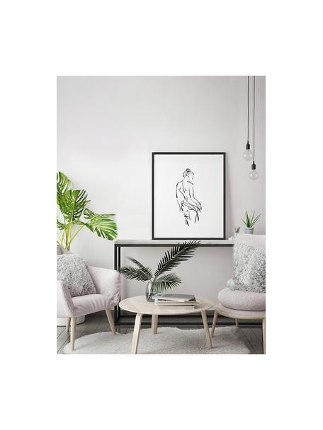 Impresión digital enmarcada Naked Woman, Negro, blanco, An 53 x Al 63 cm