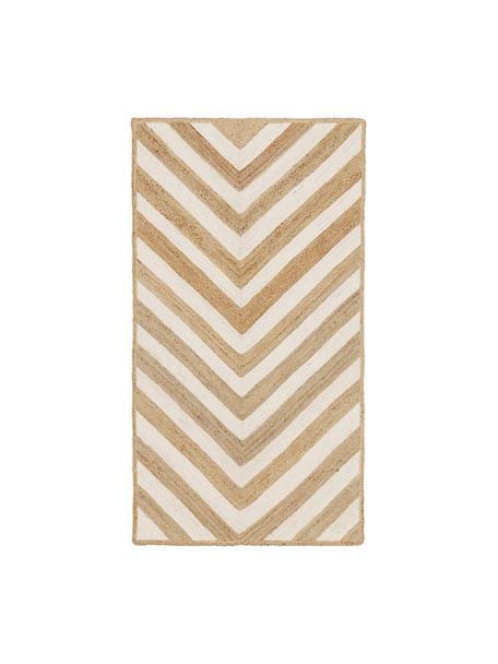 Handgefertigter Jute-Teppich Eckes, 100% Jute, Beige, B 80 x L 150 cm (Grösse XS)
