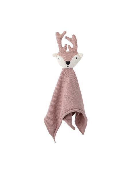 Knuffeldeken Deer, Bekleding: katoen, Oeko-Tex gecertif, Roze, 30 x 36 cm