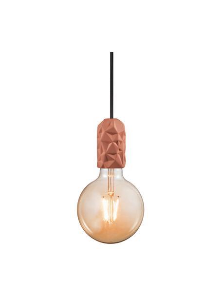 Lampada a sospensione in porcellana Hang, Terracotta, Ø 5 x Alt. 9 cm