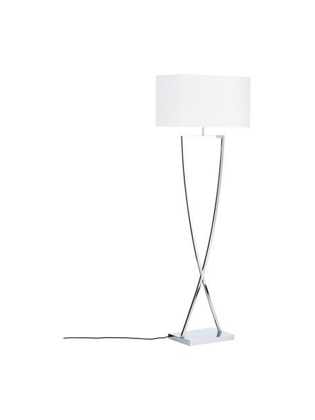 Lampa podłogowa Toulouse, Chrom, biały, S 50 x W 157 cm