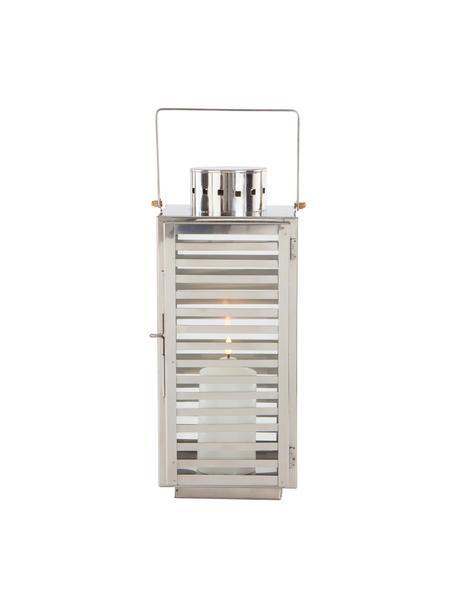 Laterne Relaxa, Rahmen: Metall, Silberfarben, 18 x 40 cm