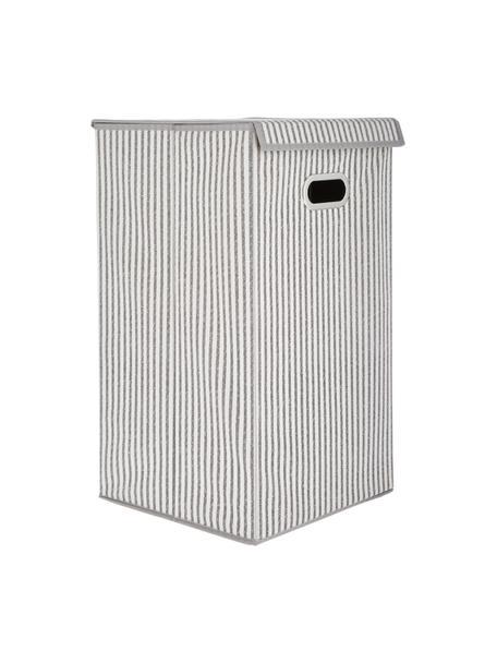 Portabiancheria Stripes, Manico: metallo, Beige, color crema, Larg. 32 x Alt. 57 cm