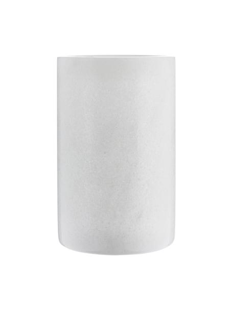 Cooler z marmuru Charlie, Marmur, Biały, marmurowy, Ø 12 x W 19 cm