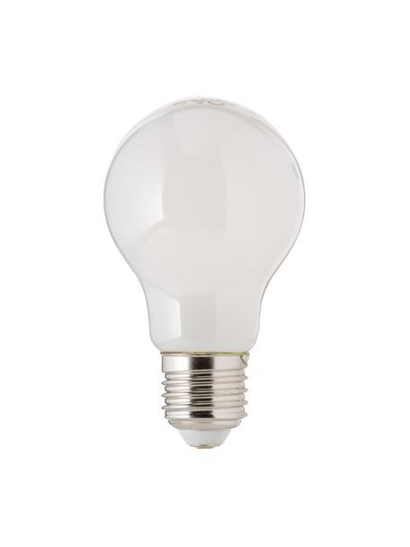 Lampadina E27, 806lm, dimmerabile, bianco caldo, 1 pz, Paralume: materiale sintetico, Base lampadina: alluminio, Bianco, Ø 8 x Alt. 10 cm