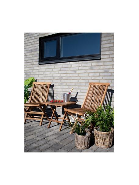 Inklapbare tuinstoelen Toledo van teakhout, 2 stuks, Teakhout, Teakhoutkleurig, B 46  x D 62 cm