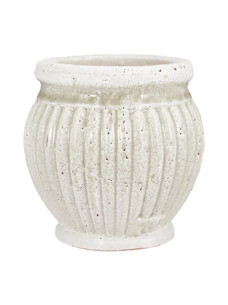 Kleine plantenpot Catinia van keramiek, Keramiek, Bruin, Ø 14 x H 14 cm