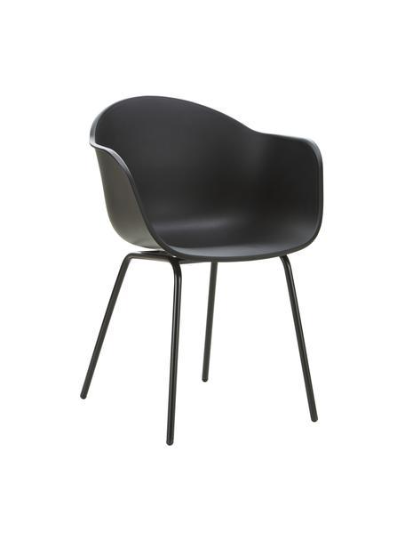 Krzesło ogrodowe Claire, Nogi: metal malowany proszkowo, Czarny, S 60 x G 54 cm