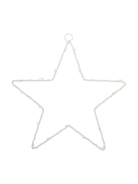LED Leuchtobjekt Silhouet H 21 cm, batteriebetrieben, Metall, lackiert, Weiß, 20 x 21 cm