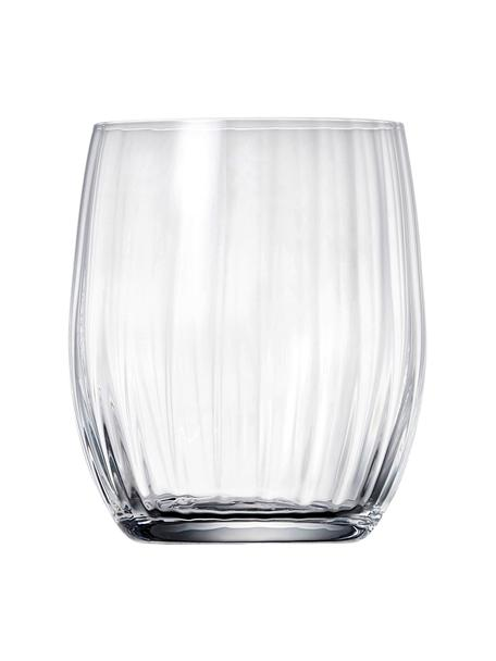 Kryształowa szklanka do wody Romance, 6 szt., Szkło kryształowe, Transparentny, Ø 9 x W 10 cm