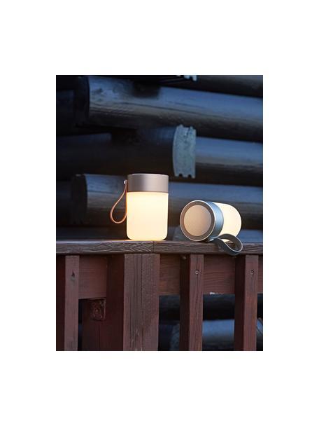 Mobile Dimmbare Tischlampe Sound Jar mit Lautsprecher , Lampenschirm: Kunststoff, Griff: Kunststoff, Kupferfarben, Weiss, Ø 9 x H 14 cm
