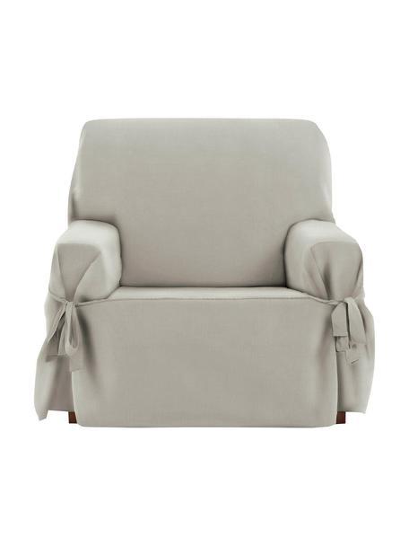 Pokrowiec na fotel Levante, 65% bawełna, 35% poliester, Szarozielony, S 110 x G 110 cm