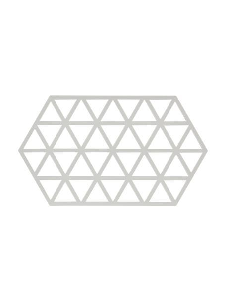 Siliconen panonderzetter Triangle in lichtgrijs, Siliconen, Lichtgrijs, 14 x 24 cm