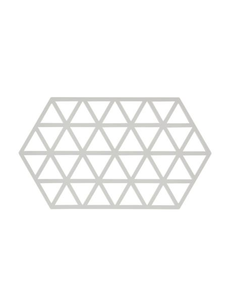 Sottopentola in silicone grigio chiaro Triangle, Silicone, Grigio chiaro, Lung. 24 x Larg. 14 cm