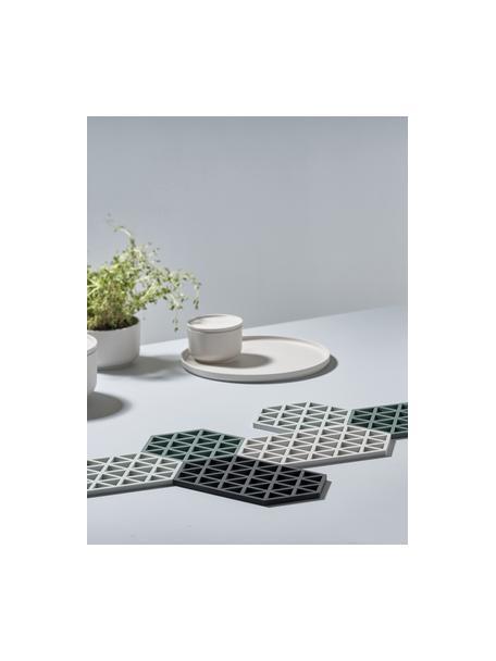 Podstawka pod gorące naczynia z silikonu Triangle, Silikon, Jasny szary, D 24 x S 14 cm