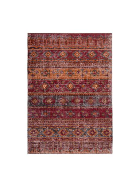 Alfombra de interior/exterior Tilas Istanbul, estilo oriental, Rojo oscuro, mostaza, caqui, An 80 x L 150 cm (Tamaño XS)