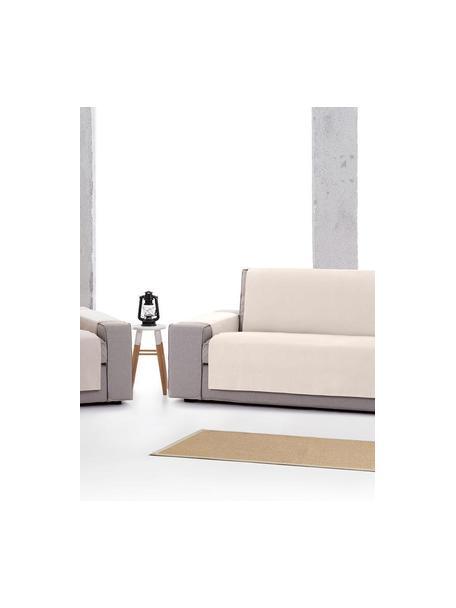 Funda de sofá Levante, 65%algodón, 35%poliéster, Beige, 2 plazas (110 x 220cm)