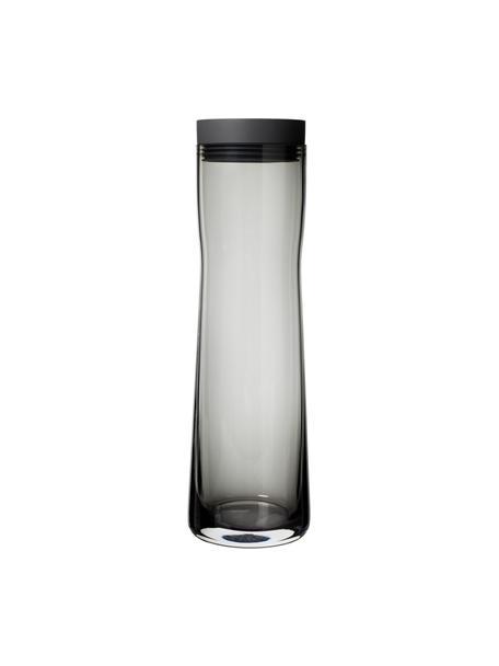 Karaf Splash, 1 L, Sluiting: silicone, edelstaal, Transparant met grijstinten, H 30 cm