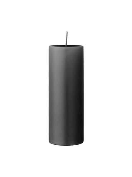 Candela a pilastro Lulu, Cera, Grigio, Ø 7 x Alt. 20 cm