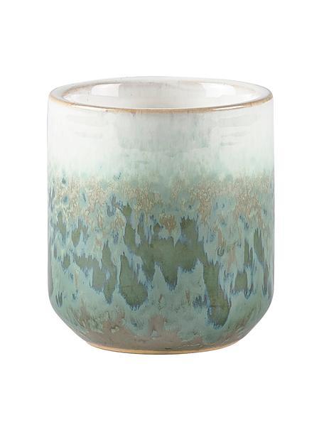 Candela profumata Green Meadow (fiore di kaktus), Contenitore: ceramica, Verde, Ø 7 x Alt. 8 cm