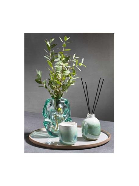 Geurkaars Green Meadow (cactusbloesem), Houder: keramiek, Groen, Ø 7 x H 8 cm