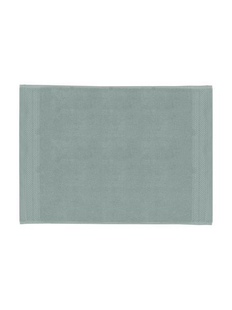 Badmat Premium, antislip, 100% katoen, zware kwaliteit, 600 g/m², Saliegroen, 50 x 70 cm