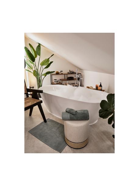 Badmat Premium, 100% katoen, zware kwaliteit, 600 g/m², Saliegroen, 50 x 70 cm