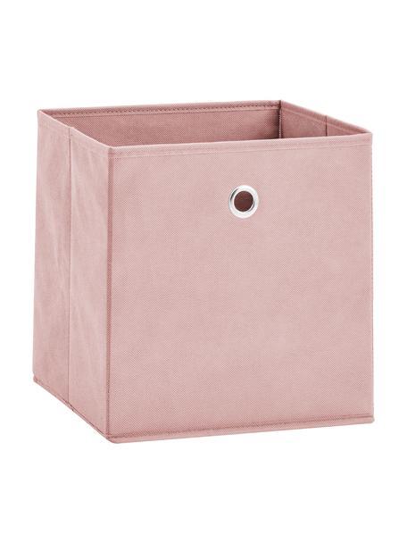 Opbergdoos Lisa, Bekleding: fleece, Frame: karton, metaal, Roze, 28 x 28 cm