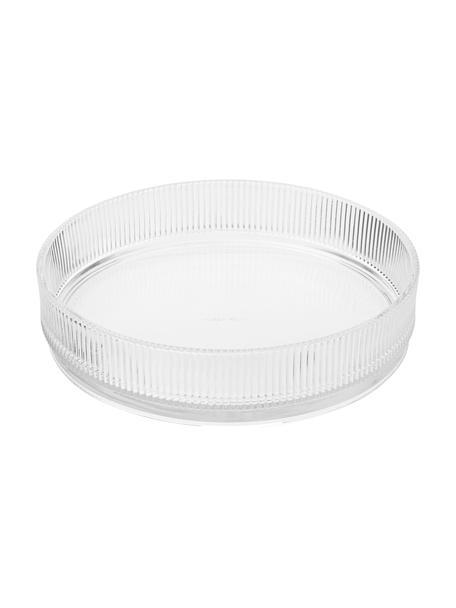 Glazen serveerschaal Pilastro met groefreliëf, Glas, Transparant, Ø 23 cm