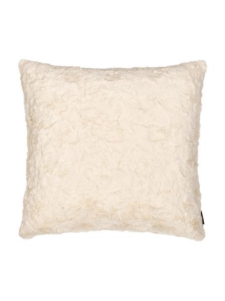 Zachte kussenhoes van imitatievacht Isis in crèmewit, Polyester, Crèmewit, 45 x 45 cm