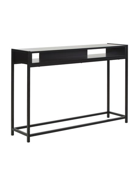 Consola Fushion, Estructura: metal con pintura en polv, Estante: tablero de fibras de dens, Negro, An 122 x Al 81 cm