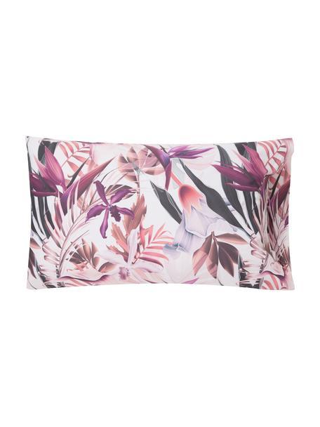 Fundas de almohada Asia Pasion, 2uds., 50x80cm, 100%algodón El algodón da una sensación agradable y suave en la piel, absorbe bien la humedad y es adecuado para personas alérgicas, Rosa, lila, blanco, An 50 x L 80 cm