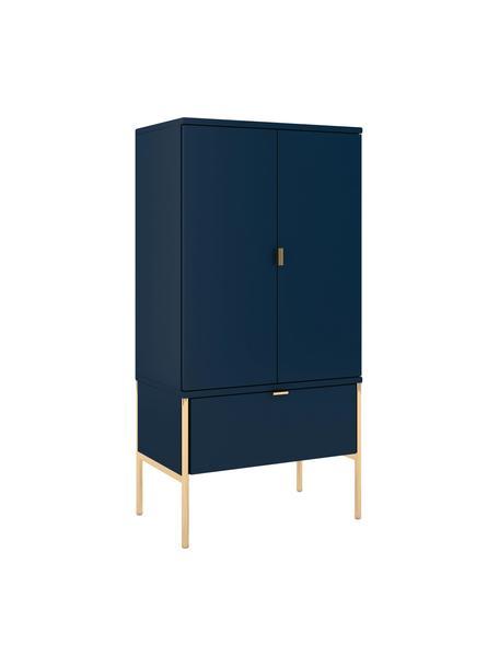 Sinfonier Polka, Estructura: tablero de fibra de alta , Azul oscuro, An 60 x Al 120 cm